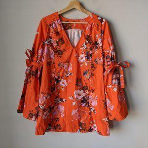 Free People Lover of Mine Orange Mini Dress